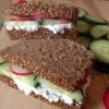 Rezept: Vollwertiger Frischkäse Sandwich