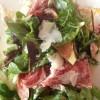 Rezept: Blattsalate mit Pata Negra, frischen Feigen, Honig und Parmesan