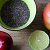 Chia Samen Rezept:  Joghurt & frische Mango, Äpfel und Minze