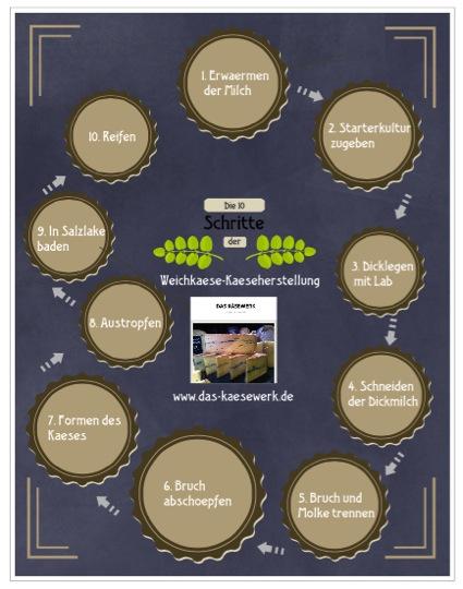 Weichkaeseherstellung Infographik