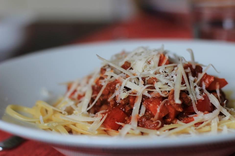 Spaghetti Bolognese Parmesan